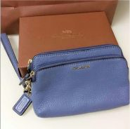 Coach Madison Leather Double Zip Wristlet