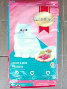 Smart Heart Kucing Cat Food Chicken & Tuna 10kg