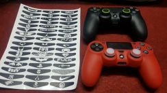 Ps4 silicon ds4 free thumb grip + sticker led