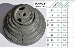 BPS MARCY 2.5kg weight plates Cast Iron Dumbbell