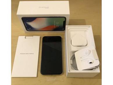 Iphone X Silver MYset 100% like new