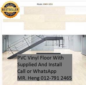 Natural Wood PVC Vinyl Floor - With Install d32e