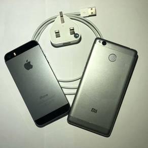 Iphone 5s 64g dan Redmi 3s