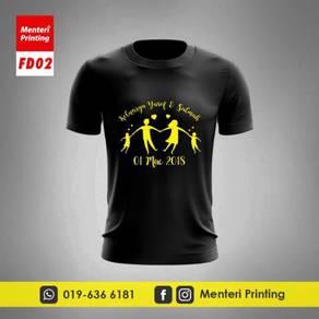 Baju Hari Keluarga Tshirt Family Day Printing FD02