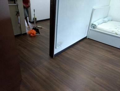 Vinyl Floor Lantai Timber Laminate PVC Floor Q320