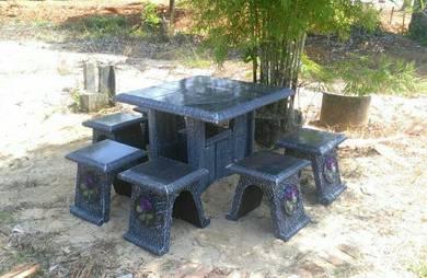 Set meja batu mozek