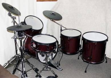Jobeky Roland Electronic drum kit - Dark red spark