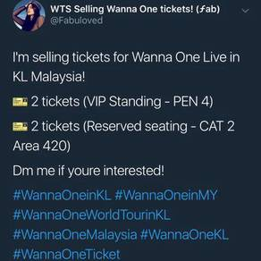 Wanna One Live in KL Malaysia