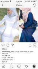 Baju Tunang/Bridal/Baju Akad Nikah