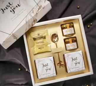 Mini Honey Gift Box Gold White (KG 101-GW)