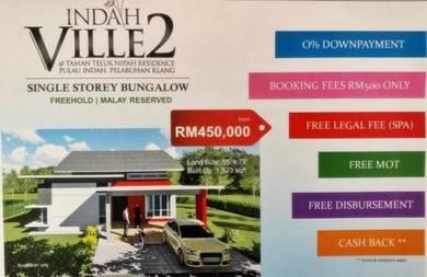 Bungalow Indah Ville 2, Taman Teluk Nipah Pulau Indah, Pelabuhan Klang