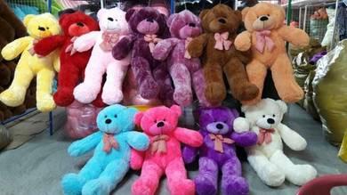 Teddy bear bermacam warna saiz 110cm