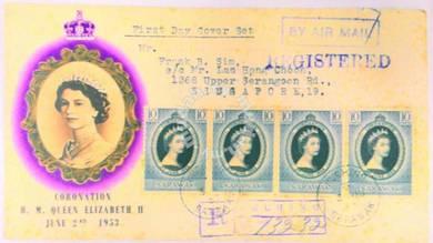 0009. Coronation queen Elizabeth fdc
