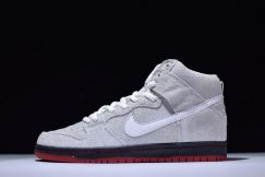 Nike dunk sb suede white red