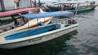 Ukuran boat lebar 6 kaki panjang 28 kaki