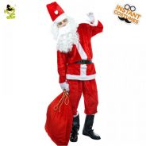 Santa claus costume 6pcs premium quality
