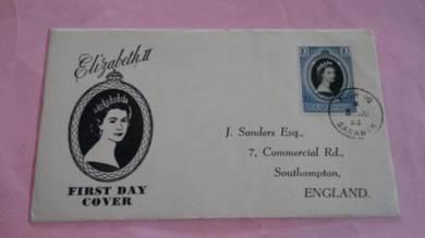 FDC SARAWAK Coronation 1953 No 901