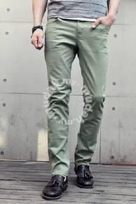 Cozart Men's Korean Trousers Casual Pants (Green)