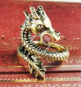 ABRB-D001 Lively Dragon Bronze Metal Ring-Size 7.5