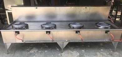 4 Burner Commercial Use High Pressure Stove
