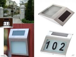 Home LED Solar Light Door Number Wall Plate