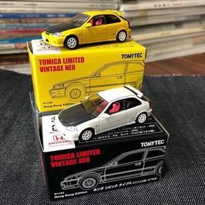 Tomica Limited Vintage Honda Civic EK9 set