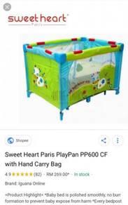 Sweet Heart Baby Bed Paris