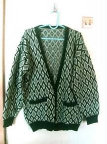 Green Patterned Warm Jacket