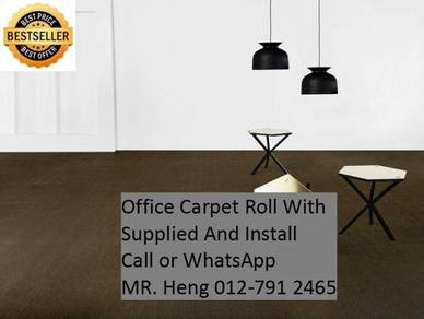 Classic Plain Design Carpet Roll with Install 4d
