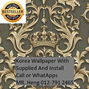 Design Decor Wall paper with Install axce43