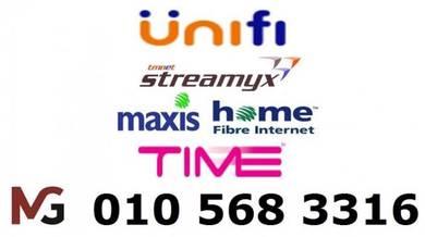 KL Unifi Maxis fibre Time Internet Modem router