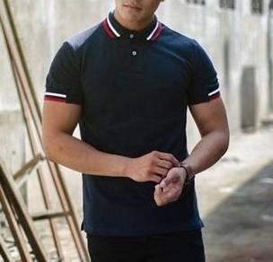 (501A) Smart Polo Dark Blue Short Sleeve T-Shirt