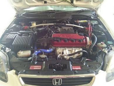 Halfcut Enjin Honda EJ Complete