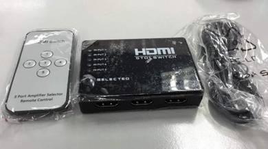 5 Ports HDMI Switch Splitter Hub + Remote Control