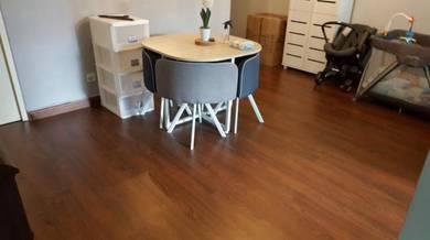 Vinyl Floor Lantai Timber Laminate PVC Floor Q319