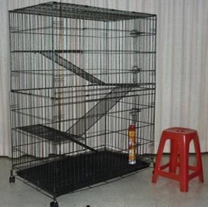 BESAR Cat Cage 4 Tingkat RC28