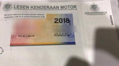 Insurans & roadtax road tax labuan sabah sarawak