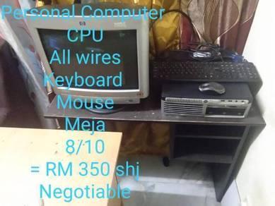 Computer set + meja