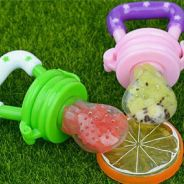 Baby food feeder pucifier & baby byte