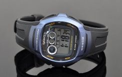 Casio Digital Dual Time Rubber Watch W-210-1BVDF