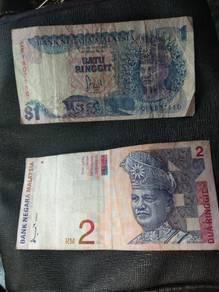 Duit lama RM1 & RM2