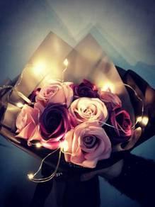 LED light Soap Flower