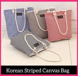 Korean Striped Canvas' Bag (9)