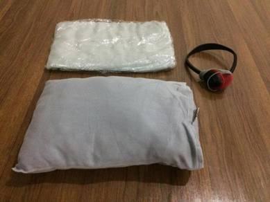 Travel Pillow, Blanket and Earphones