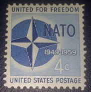 US Postage 10th Anniversary of NATO 1959 4c