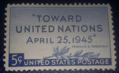 US Postage United Nations Conference 1945 5c