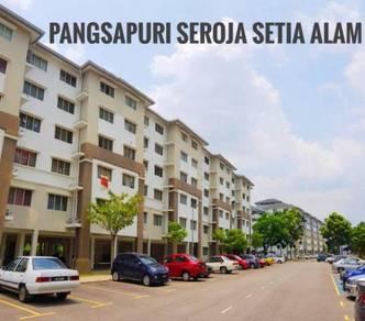 FREEHOLD Pangsapuri Seroja Setia Alam (680 SF), Ready Tenant