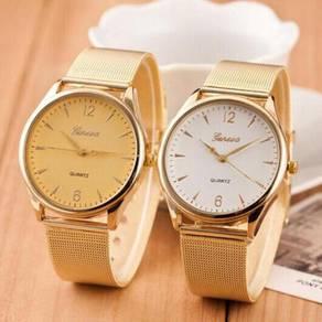 New Famous Brand Silver Geneva Quartz Watch