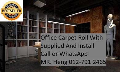 Modern Office Carpet roll with Install vc7