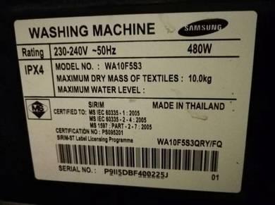 Samsung 10kg Washing Machine